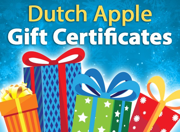 Dutch Apple Gift Certificates
