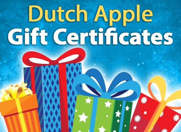 Dutch Apple Gift Certificates