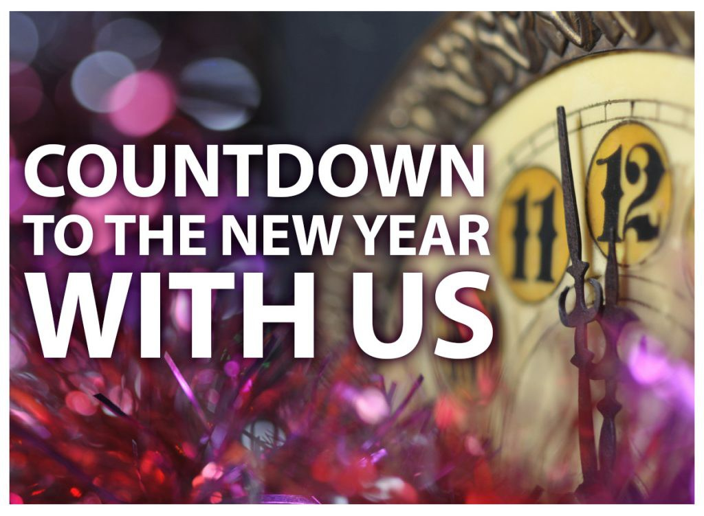 Countdown to the New Year with us!